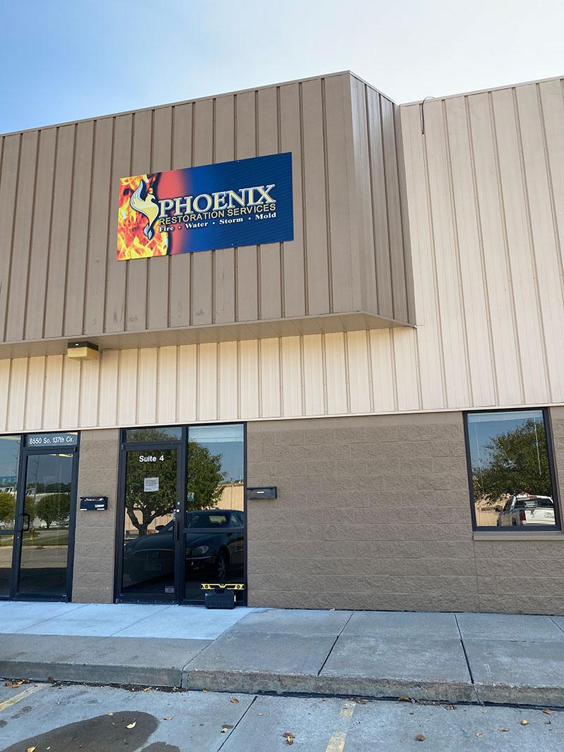 Phoenix Restoration Omaha office exterior front door