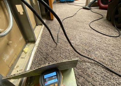 moisture check of floor at Saint Stephens Church in Omaha, NE