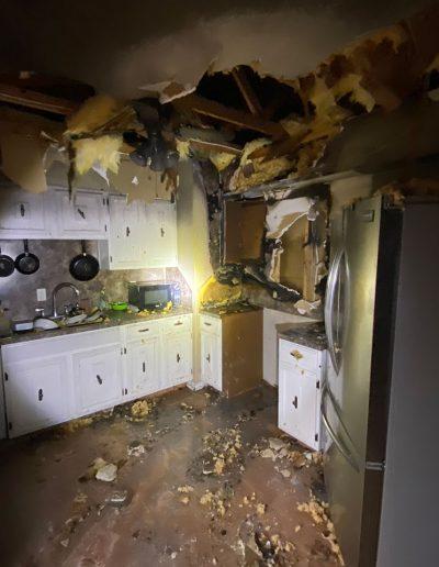 house fire kitchen damage before restoration in Omaha, NE