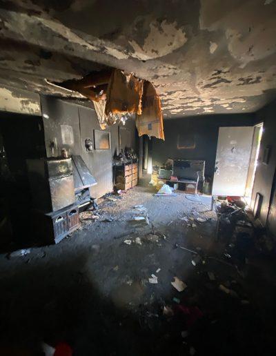 house fire interior damage pre board up in Omaha, NE