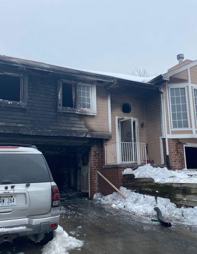 house fire pre board up in Omaha, NE